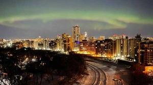 Northern Lights over Winnipeg. Photo by Celina Flett.