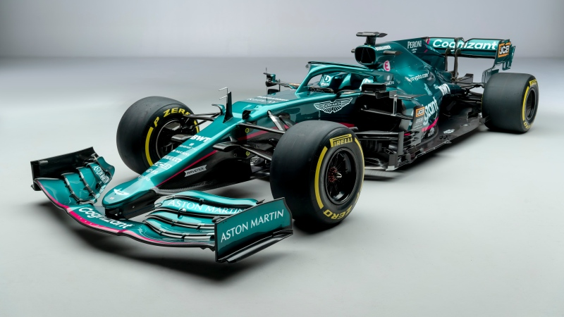 The Formula One Aston Martin-Cognizant team car is seen in an undated handout photo. The Aston Martin F1 team unveiled their car for the Formula 1 championship on Wednesday, a first in more than 60 years for the British manufacturer. THE CANADIAN PRESS/HO-Aston Martin F1 Media Portal, Dominic Fraser, *MANDATORY CREDIT*