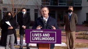 Premier Jason Kenney outlined health care spending for seniors in the recently announced budget.