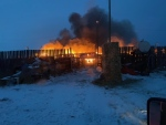 Pipestone Livestock Market fire, March 1 (Source: Gene Parks)