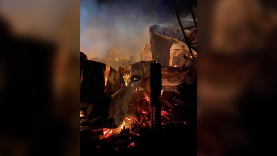 Pipestone Livestock Market fire, March 1