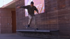 Skateboarder Shay Sandiford is pictured in this screenshot: (The Berrics Youtube / Shay Sandiford)