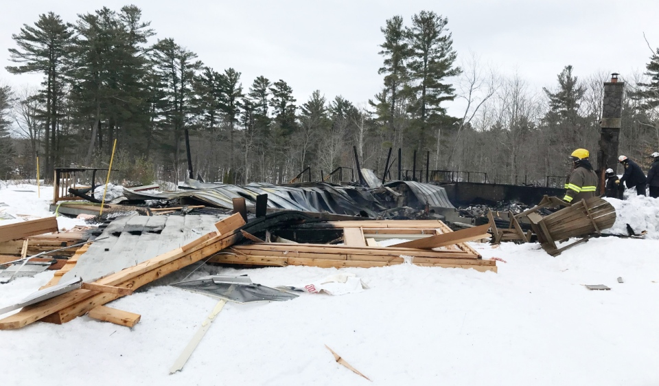 An explosion levelled a dormitory Wednesday in the Municipality of McDougall, north of Parry Sound. (Supplied)