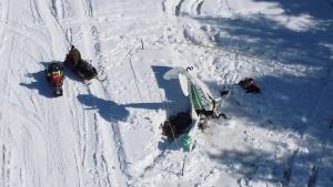 Drone image of the plane crash (Courtesy: Volatus Aerospace)