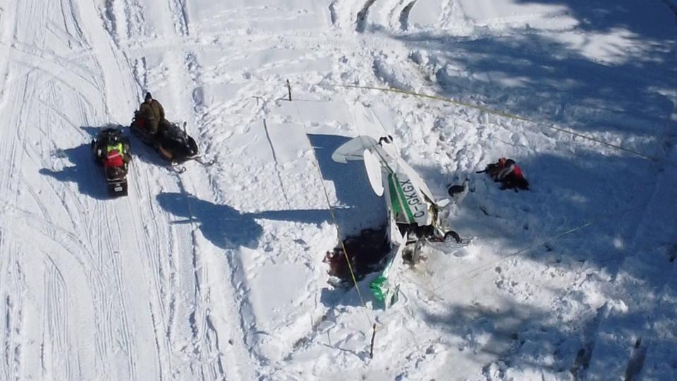 Drone image of the plane crash