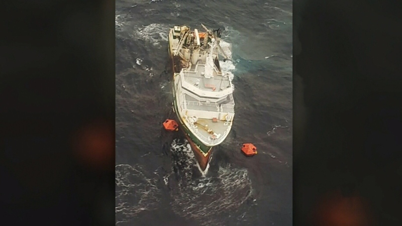 A harrowing rescue on rough seas