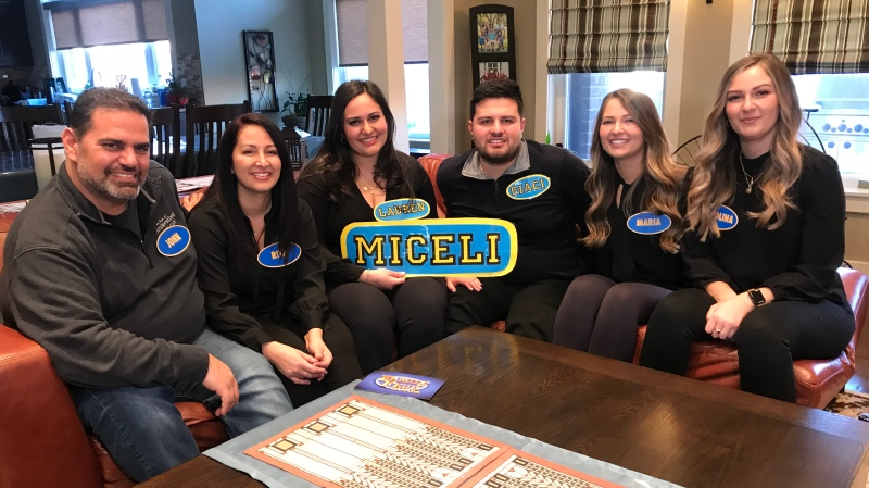 The Miceli family won $10,000 on Family Feud Canada is helping to raise autism awareness in Windsor, Ont. on Wednesday, March 3, 2021. (Alana Hadadean/CTV Windsor)