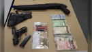 Police in Surrey have arrested two 16-year-old boys and seized thousands of dollars in cash and drugs after searching a condo in the city's Whalley neighbourhood last week. (Surrey RCMP)