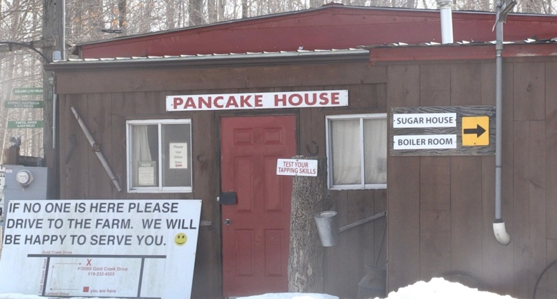 McLachlan Family Maple Syrup and Pancake House, located in Komoka Ont. on March 3, 2021. (Jordyn Read/CTV London)