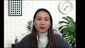 Jackie Truong, pictured during a virtual interview with CTV News Winnipeg, created a Facebook group to help newcomers to Winnipeg adapt to a new country.