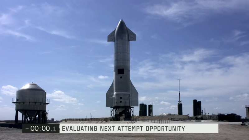 SpaceX aborts Wednesday Mars prototype rocket test launch with 0.1 seconds on the clock. (SpaceX/CNN)