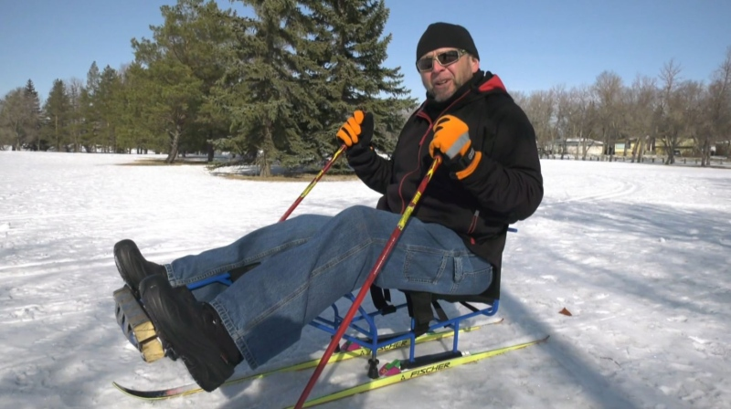 Unique equipment helps Sask. man ski