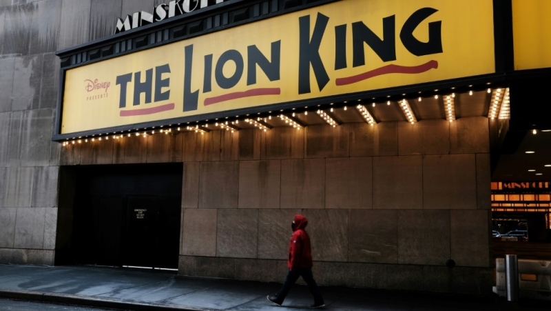 "Capacity limits at New York theaters means that major Broadway productions like ""The Lion King"" can't reopen just yet. (AFP)"