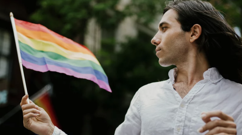 Amin, who escaped from the brutal 2017 anti-gay crackdown in Chechnya with help from Rainbow Railroad, is featured in this undated promotional image (Rainbow Railroad)