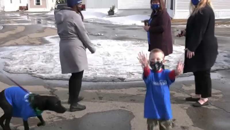 A young Calgary boy's dream came true Wednesday when Make-A-Wish threw him a puppy parade.