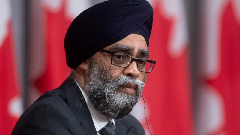 Minister of National Defence Harjit Sajjan is seen during a news conference Thursday May 7, 2020 in Ottawa. THE CANADIAN PRESS/Adrian Wyld