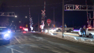 An 18-year-old man and his dog were killed when they were struck by a train in Montreal Wednesday March 3, 2021. (Cosmo Santamaria/CTV News)