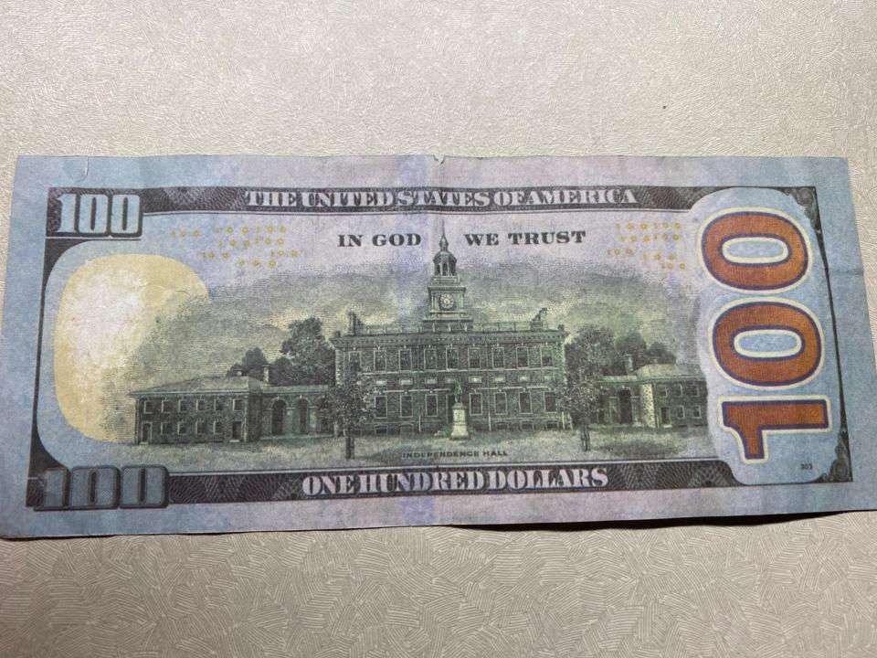 counterfeit $100 bill