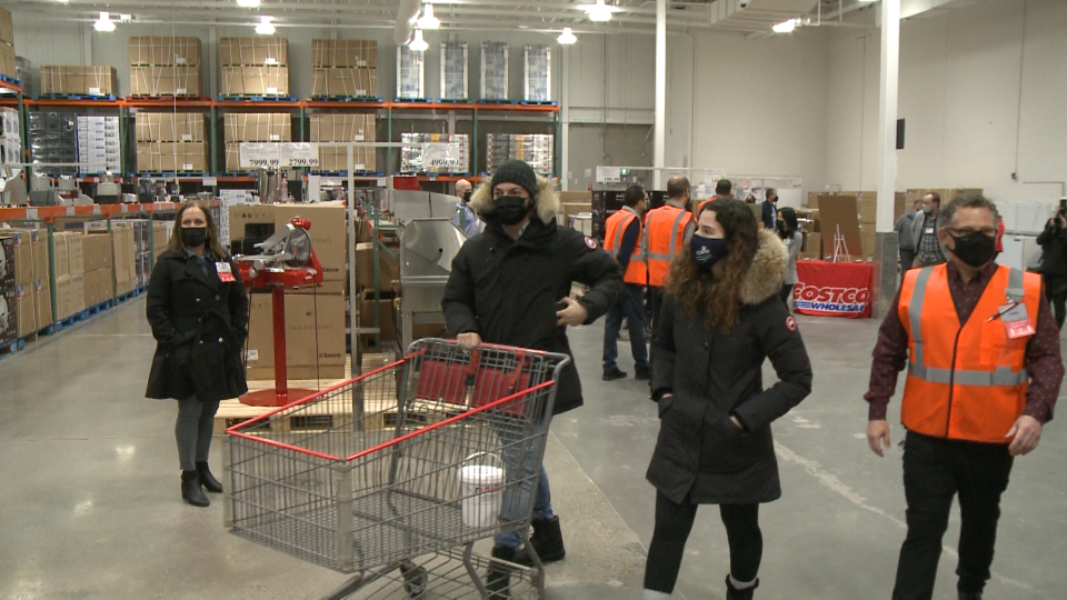 Costco opened its new Canadian Business Centre on Thursday on Cyrville Road in Ottawa's east end. (Jim O'Grady/CTV News Ottawa)