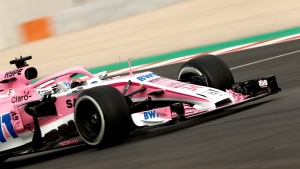Force India driver Nikita Mazepin of Russia steers his car during a Formula One pre-season testing session at the Catalunya racetrack in Montmelo, outside Barcelona, Spain, Monday, Feb. 26, 2018. (AP Photo/Francisco Seco)