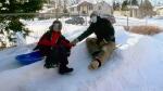 Senior spent decades perfecting backyard luge