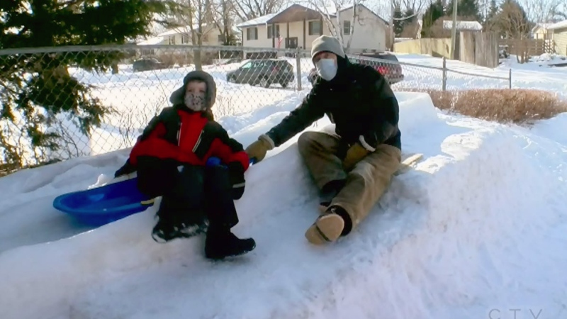 Senior spent decades perfecting backyard luge