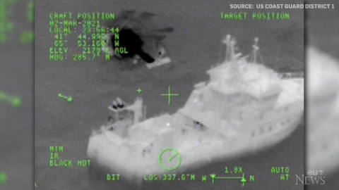 The U.S Coast Guard released video showing joint efforts by Canadian and U.S. teams to rescue 31 crew members from a sinking vessel.