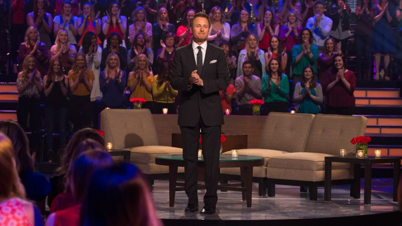 """Bachelor"" host Chris Harrison said Saturday he is ""stepping aside"" from the show ""for a period of time"" after defending a frontrunner on the current season who came under scrutiny for social media photos from her past. (Paul Hebert/ABC)"