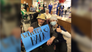 Staff and residents at Fairfield Park Village celebrate the end of a COVID-19 outbreak at the home in Wallaceburg, Ont. (courtesy Fairfield Park Village)