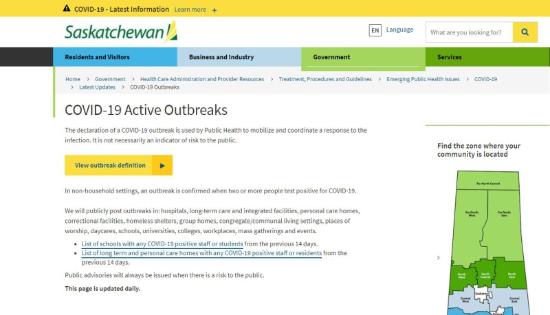 Outbreak website