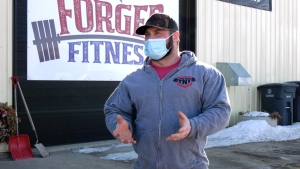 Chris Buhr is the co-owner of Forged Fitness in Martensville. (Chad Hills/CTV News)