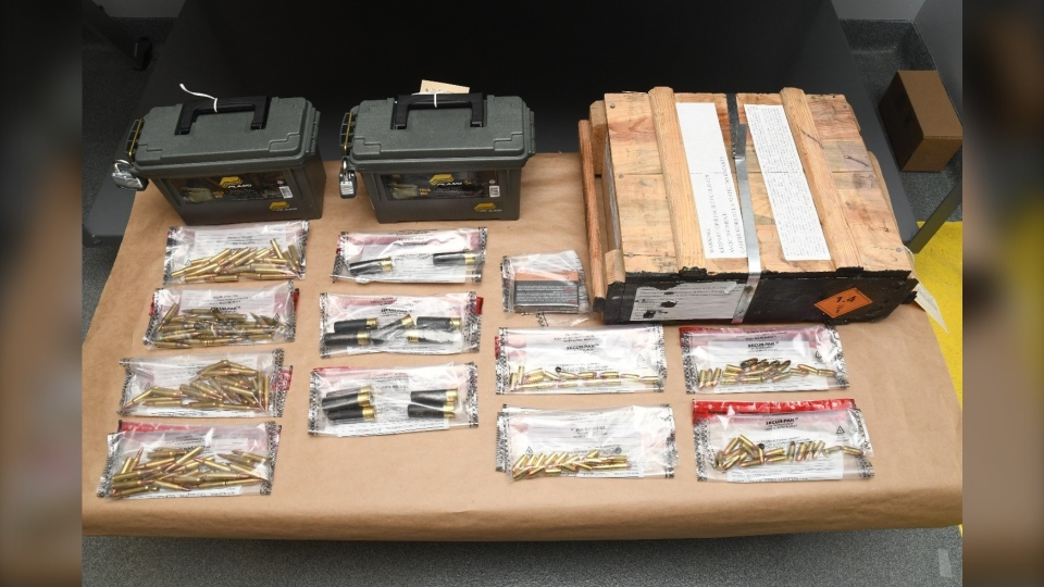 Ammunition seized by Winnipeg police during a recent arrest (image source: Winnipeg Police Service)