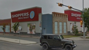 A number of workers at this Calgary Shoppers Drug Mart have tested positive for COVID-19 in the past week. (File/Google Maps)