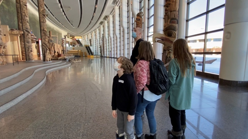 The Neumann family visit the Canadian Museum of History during the Quebec March Break. March 4, 2020. Gatineau, Que. (Tyler Fleming/CTV News Ottawa)
