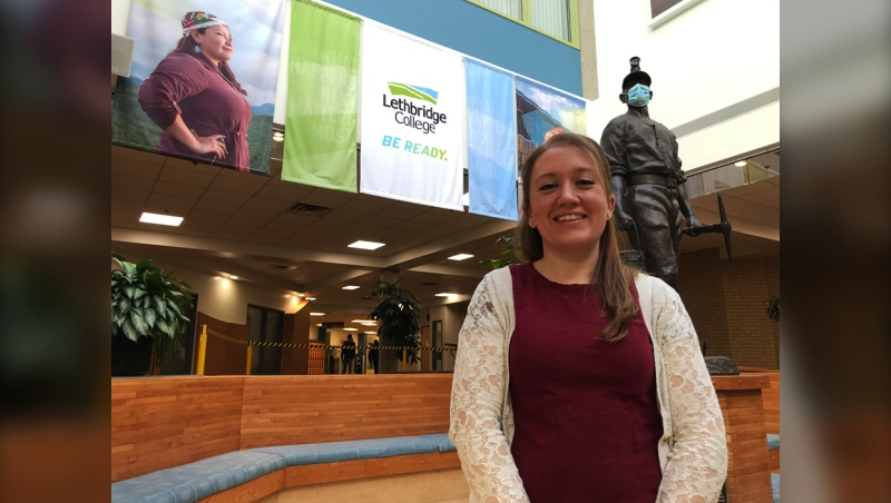 One of the Lethbridge College students to receive a donor student award is first-year Bachelor of Nursing student, Laura Taylor, a mother of six who returned to school to study after a 13 year year hiatus.