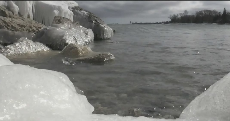 Less ice coverage out on the Great Lakes