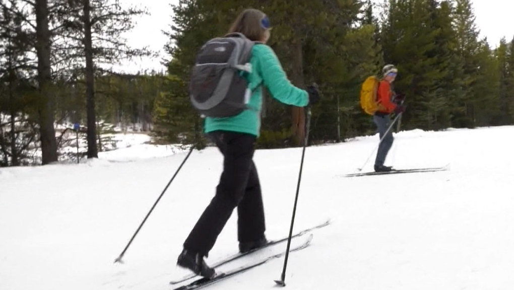 calgary, kananaskis, cross-country skiing, groomin