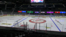 The Brandt Centre has been prepped for the WHL Eastern hub. Teams will begin practicing on Friday, Mar. 4. (Claire Hanna / CTV Regina)