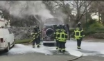 Man dies in Beacon Hill van fire