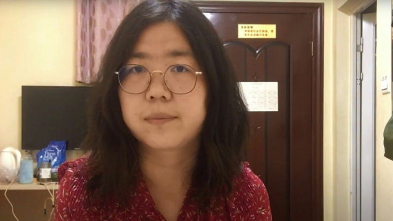 Zhang Zhan's decision to share her amateur footage of the coronavirus outbreak in Wuhan with the wider community came at a high price. (AFP)