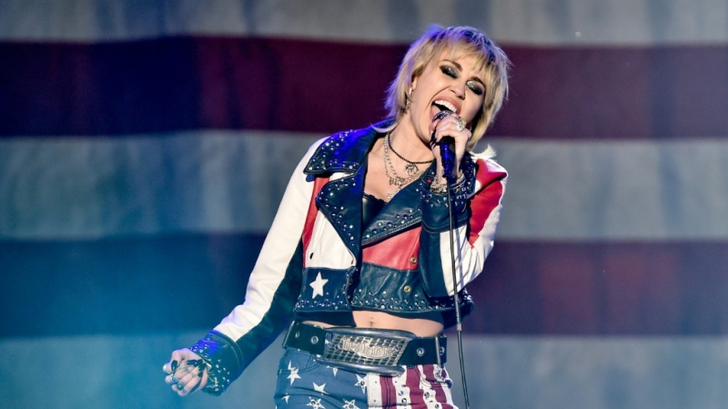 Miley Cyrus has been among the pop stars sporting a mullet. (AFP)