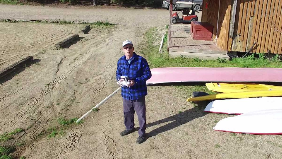 Murray Wilson out flying his drone at Barrier Lake, Sask. (Courtesy Murray Wilson)