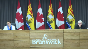 New Brunswick Chief Medical Officer of Health Dr. Jennifer Russell and Health Minister Dorothy Shephard provide an update on the COVID-19 situation on March 5, 2021.