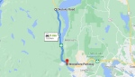 Traffic delays are expected on this stretch of the Malahat on Friday: (DriveBC / Google Maps)