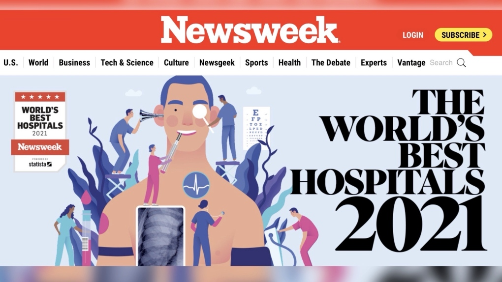 NEWSWEEK LIST OF TOP HOSPITALS