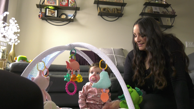 Kayla Ritacco and her daughter, Sofia. March 5, 2021. (CTV News Edmonton)
