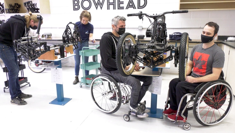 Christian Bagg has been building special three-wheeled bikes with his team for months. The equipment allows disabled riders more freedom than ever before.
