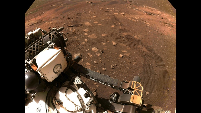 The Mars rover Perseverance has successfully conducted its first test drive on the Red Planet, the U.S. space agency NASA said Friday. (AFP)