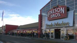 The opening of the new Freson Bros. store in south Edmonton on March 5, 2021. (Matt Marshall/CTV News Edmonton)