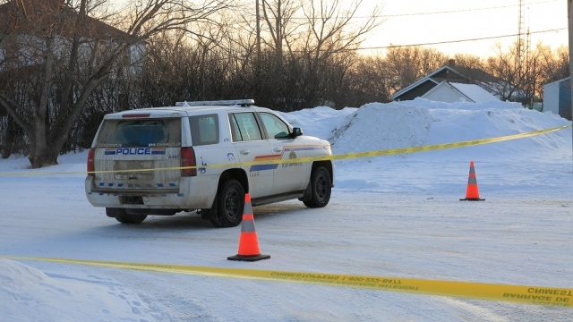 RCMP in the village of Milden. (Photo: Christian Moulding)